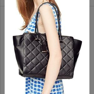 Kate spade blk Emerson place Valerie quilted tote